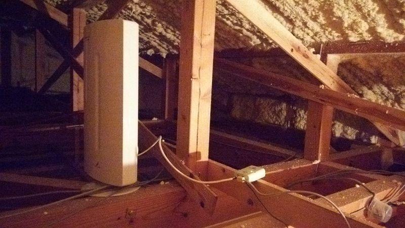 【屋根裏アンテナ】天井裏にアンテナを設置してみた+奈良県でテレビ大阪を見る