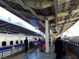 東京駅プラットフォーム自由席付近